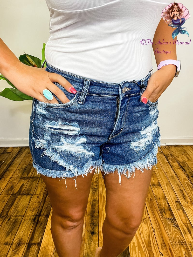 Judy Blue Tulip Hem Denim Shorts *Final Sale*