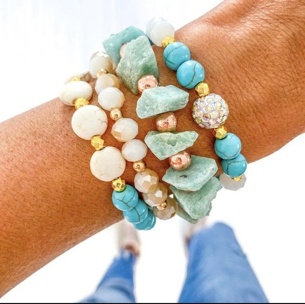 Turquoise Quartz Bracelet Set