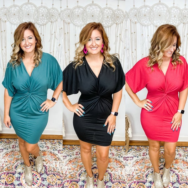 Wild For You Twist Front Dress