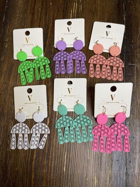 Summer Geo Dangle Earrings