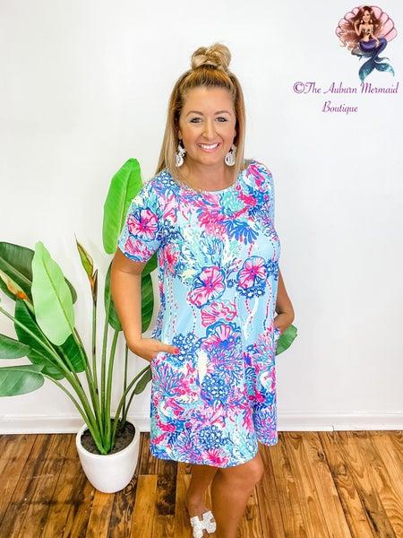 Beautifully Jelly Pocket Swing Dress