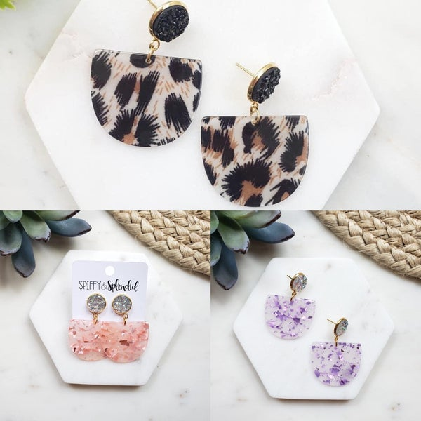 Lola Druzy Earrings