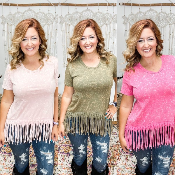 Sway Into It Fringe Top