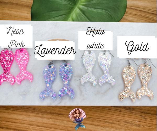 Mermaid Tail Glitter Earrings