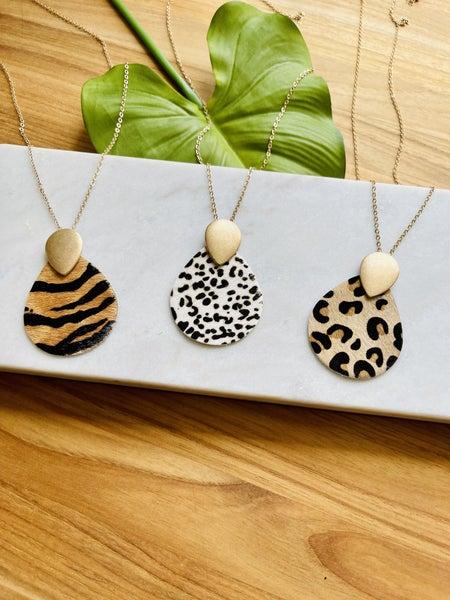 Animal Teardrop Necklaces