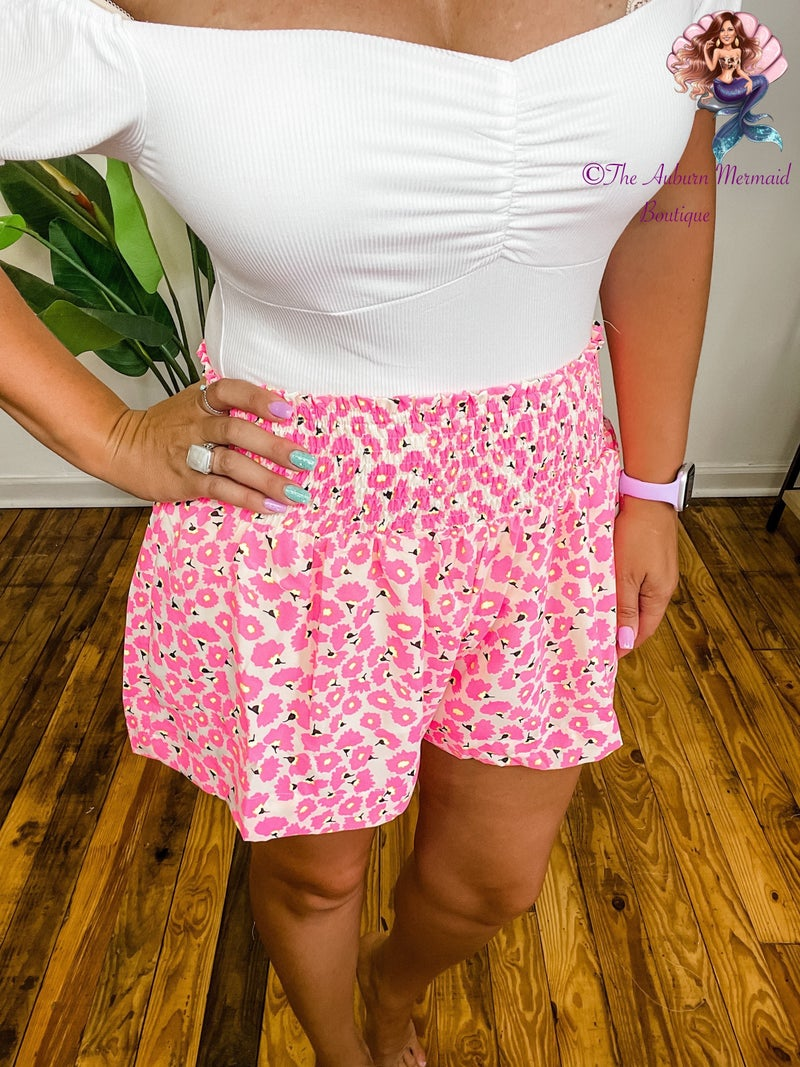 Pretty In Pink Smocked Shorts *Final Sale*