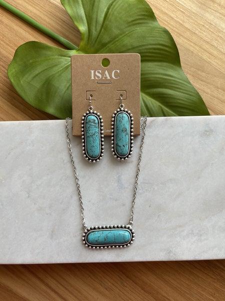 Turquoise Bubble Bar Necklace
