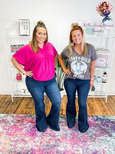 Judy Blue Hi Waist Pull On Super Flare Jeans