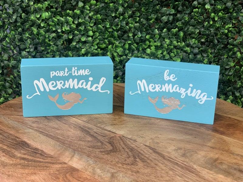 Mermaid Box Signs