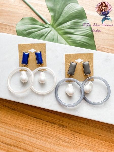 Acrylic Staple Earrings