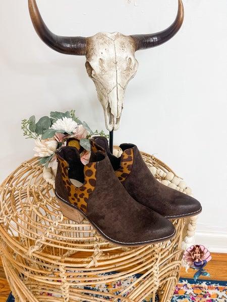 Ginger Leopard Booties