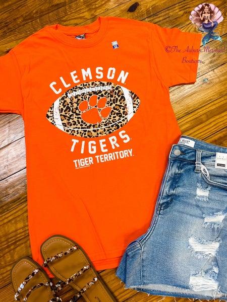 Clemson Leopard  Football Tee