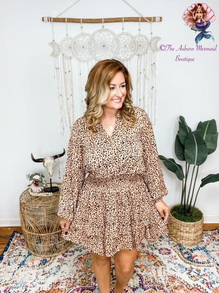 A Little Wild Smocked Leopard Dress