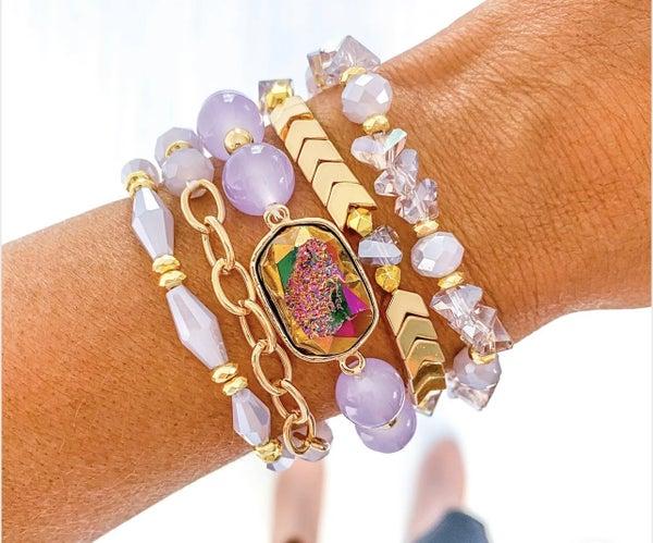 Lilacs & Afternoon Tea Bracelet Set