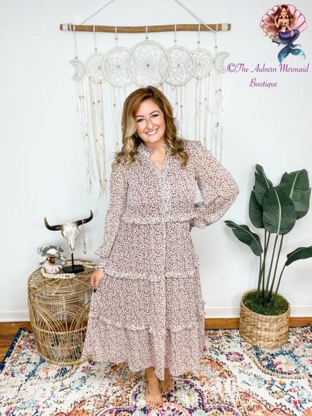 Ditsy Boho Midi Dress