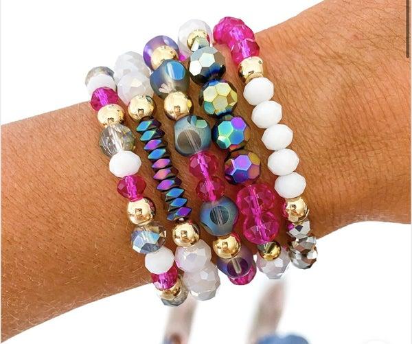 Raspberry Bracelet Set