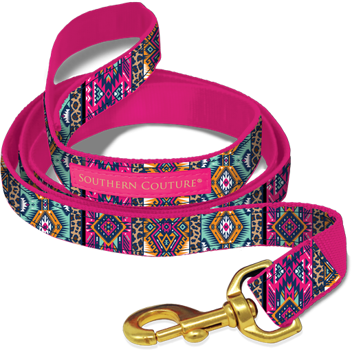 Aztec Leopard Dog Collars & Leashes