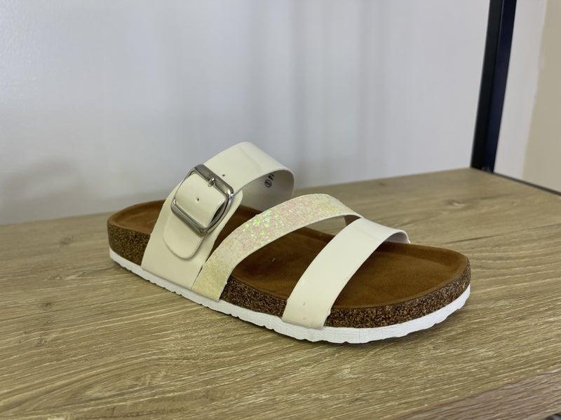 White Glitter Sandals *Final Sale*