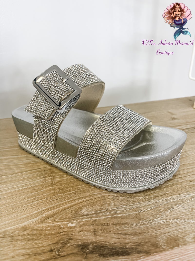 Silver Platform Sandals *Final Sale*