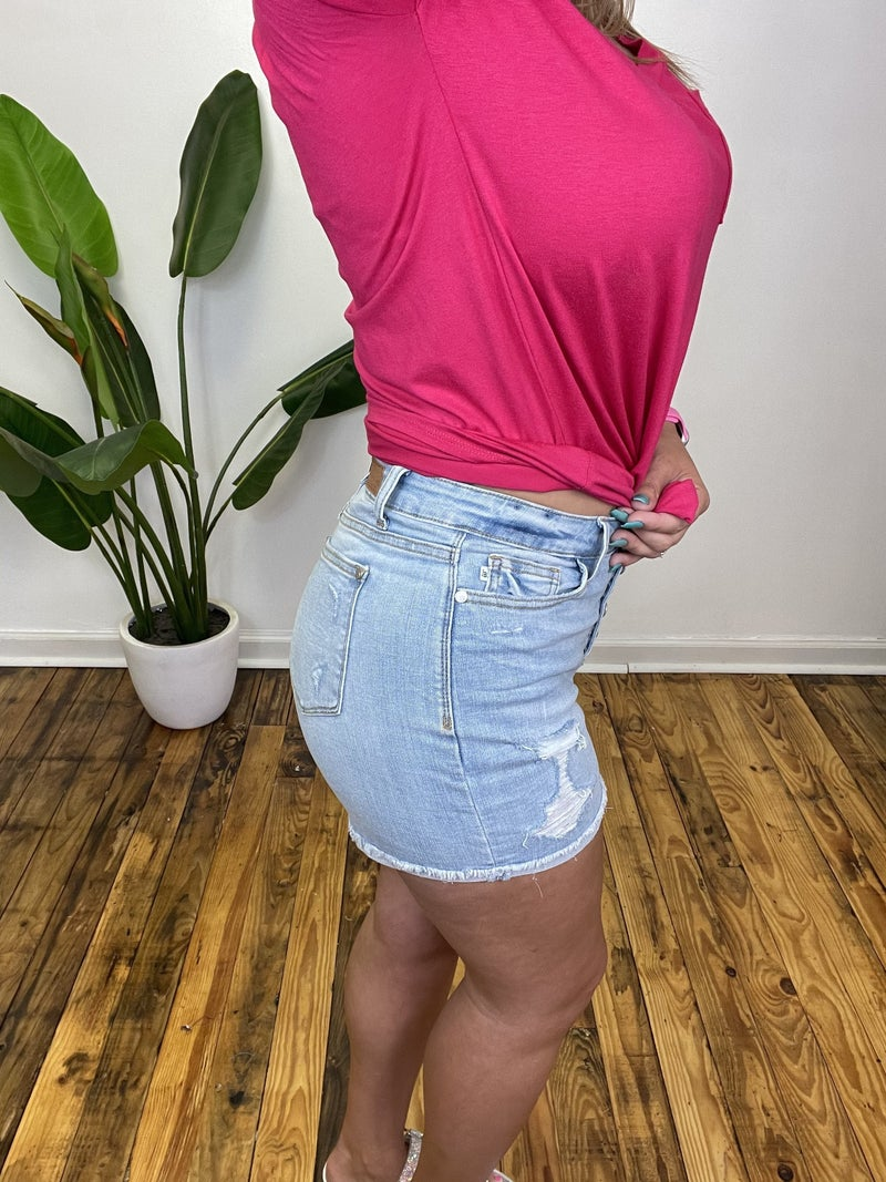 Judy Blue High Wasted Buttonfly Cuffed Shorts *Final Sale*