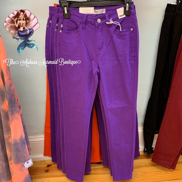 Purple Game Day Skinny Jeans