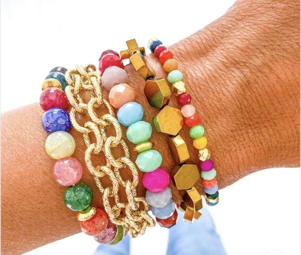 Color of Love Bracelet Stack