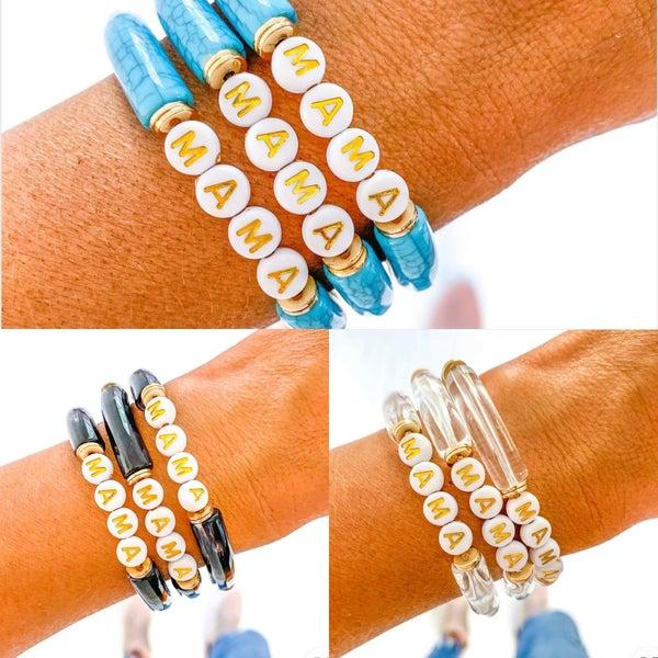 Acrylic Bamboo Mama Bracelets