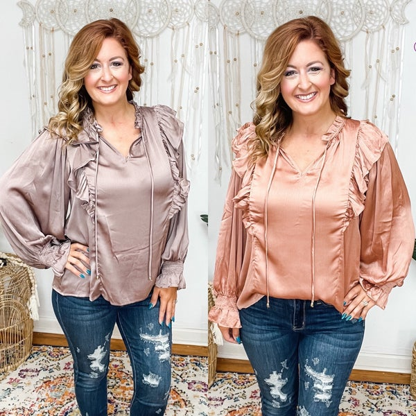 The Choice Is Yours Ruffle Blouse