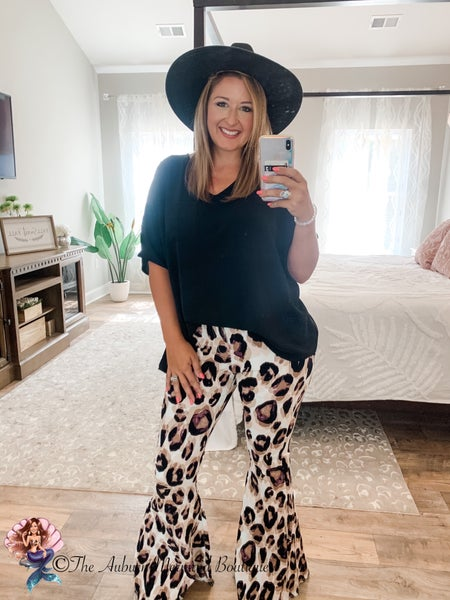 Bold Leopard Super Flare Jeans (PLEASE READ SIZING)