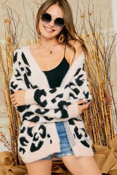 Blushing Leopard Cardi
