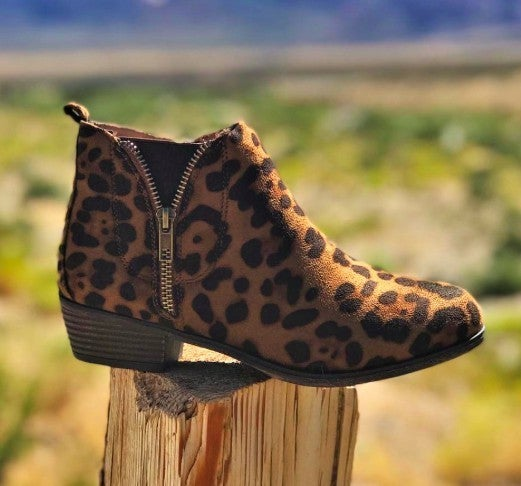 Zip Up Sassy Leopard Booties *Final Sale*