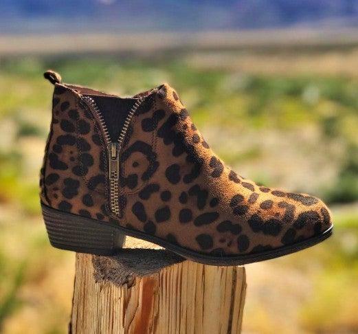 Zip Up Sassy Leopard Booties *Final Sale*
