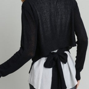 Polkadot Shirt Knot Tie Sweater