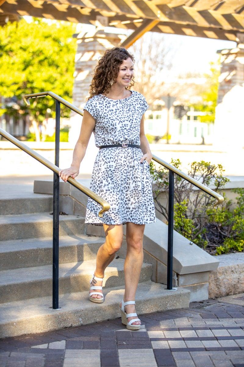 Cindy Leopard Dress