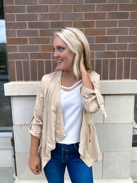 Collette Draped Collar Jacket