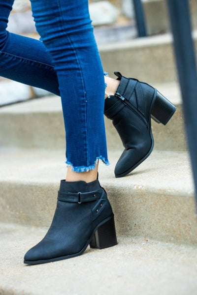 Buckle Strap Bootie *Final Sale*
