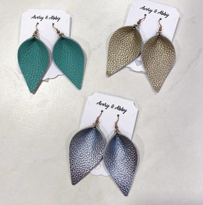 Leather Earrings *Final Sale*