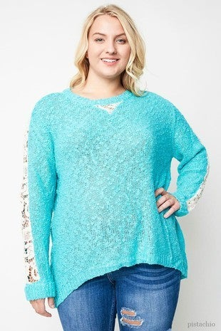 Lace Sleeve Sweater *Final Sale*