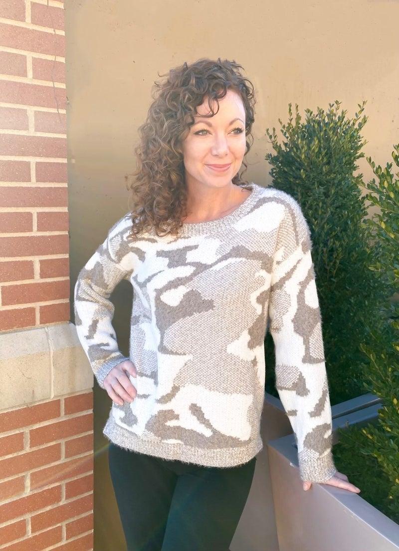 Trophy Wife Camo Sweater