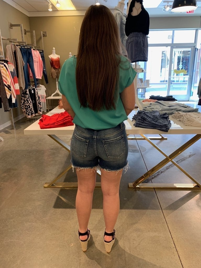 Just a Little Longer Denim Shorts