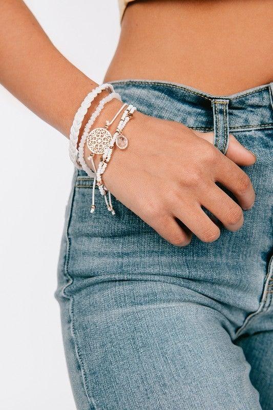 Boho White Bracelets