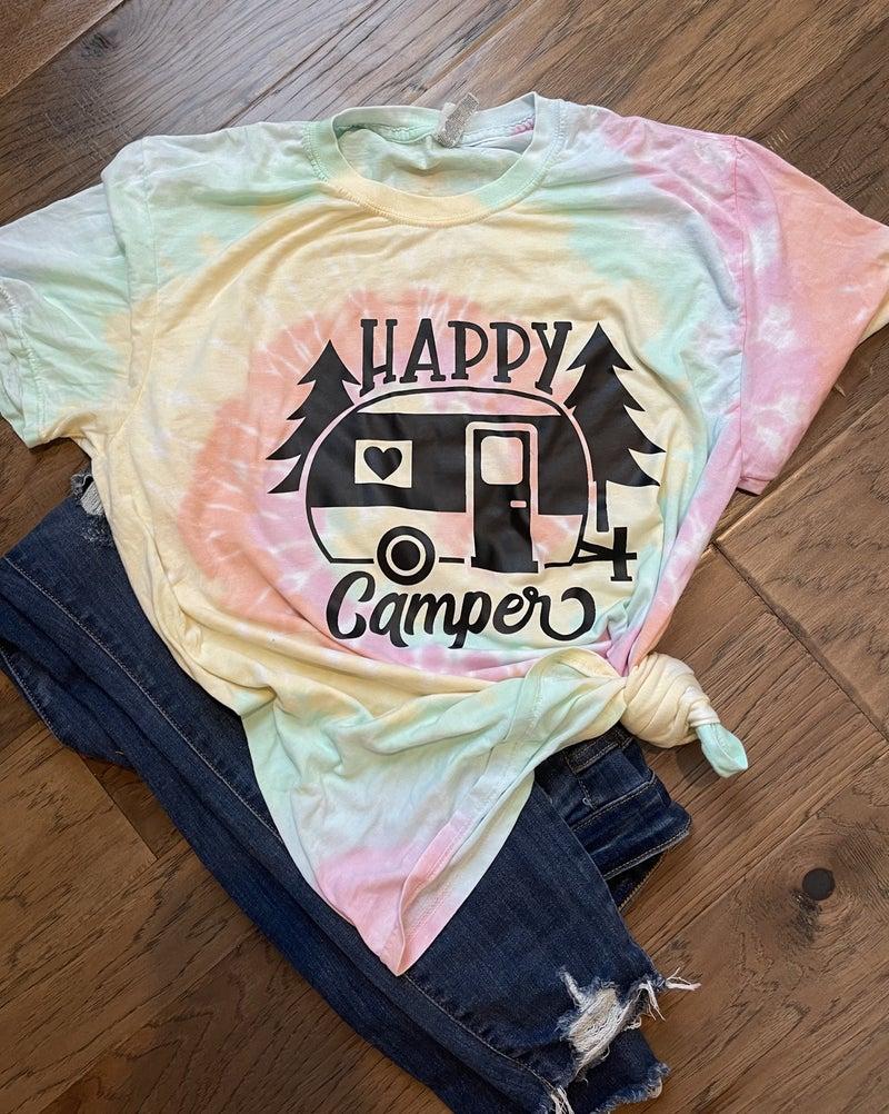 CTSTL Happy Camper Tie Dye Tee