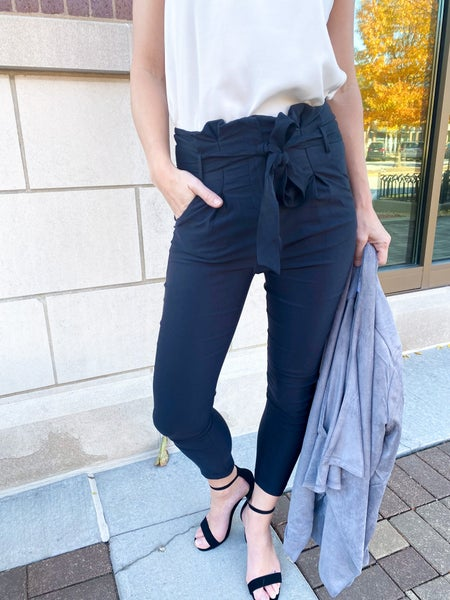 Paperbag Waist Tie Pants