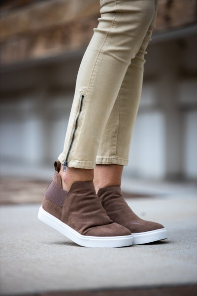 A Step Up Small Wedge Sneaker