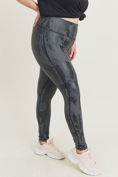 Not Just Any Camo Leggings - Curvy