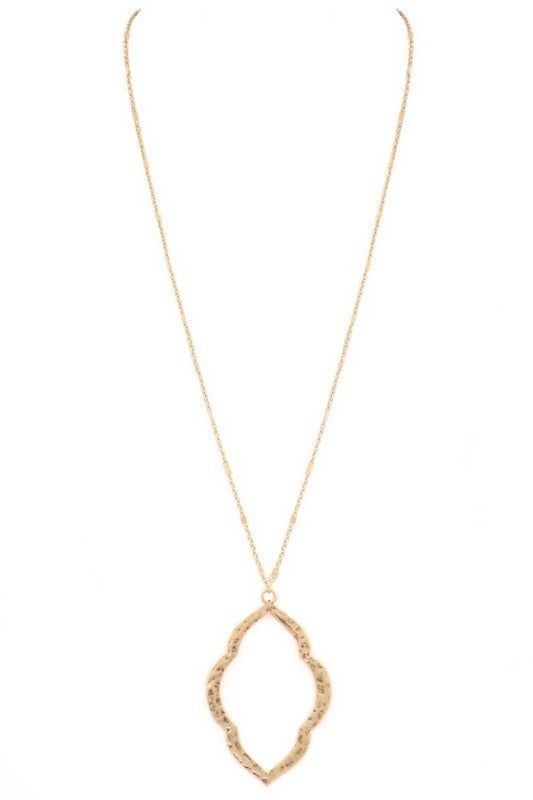 Long Gold Morrocan necklace