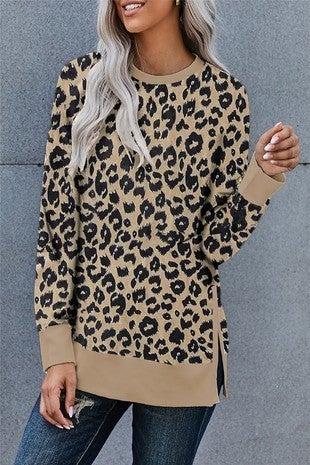 Chic Leopard Sweatshirt