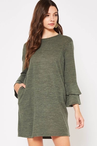 Softest Ever Bell Sleeve Sweater Dress *Final Sale*