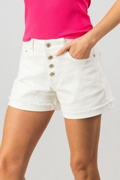 Cute as a Button Denim Shorts