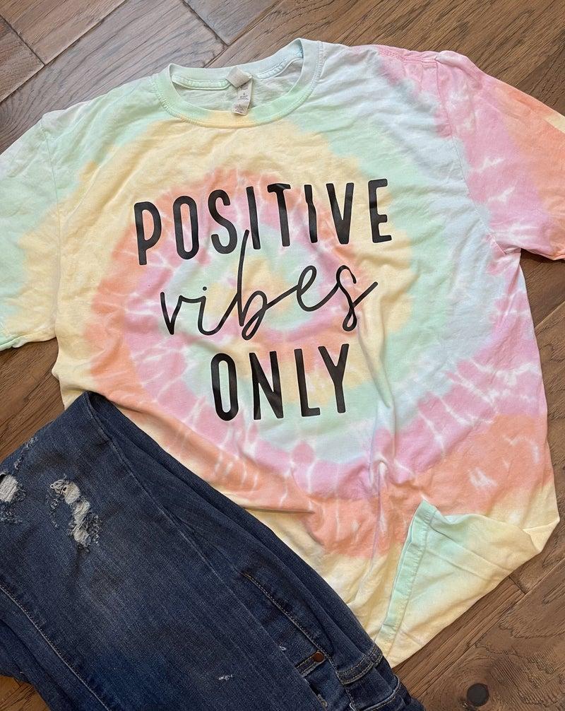 CTSTL Positive Vibes Tie Dye Shirt